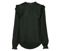 Top With Ruffles And Smock Detail