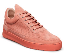 Low Top Ripple Suede Perforated Niedrige Sneaker Pink FILLING PIECES