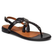 Sandals 8626 Flache Sandalen Schwarz