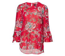 Patty 2 Blouse Bluse Langärmlig Rot ANDIATA