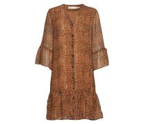 Tanyaiw Dress Kurzes Kleid Braun INWEAR