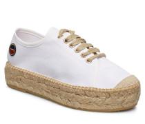 Branco Lace Up Espadrilles Shoes Sandalen Espadrilles Flach Creme BUSNEL