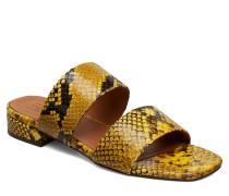 Sandals 8716 Flache Sandalen Gelb