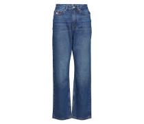 Tjw Mom Jeans W16 B, Jeans Mit Weitem Bein Loose Fit Blau TOMMY JEANS