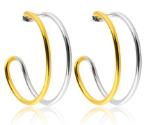 Two Tone Hoops M