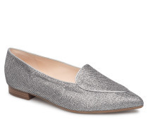 Tessi Loafers Flache Schuhe Silber