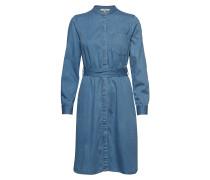 Leondra Lyocell Belted Hemdkleid Kleid Knielang Blau FRENCH CONNECTION