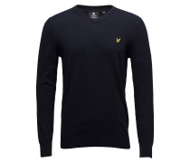 Cotton Merino V Neck Jumper