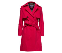 Sirena Trench Trenchcoat Mantel Rot SUPERDRY