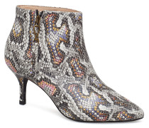 Agnete Snake Shoes Boots Ankle Boots Ankle Boots With Heel Bunt/gemustert