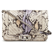 Graphic Embossed Snake Bags Small Shoulder Bags/crossbody Bags Creme