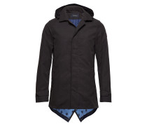 Classic Parka Jacket With Fixed Inner Body Warmer