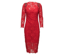 Harriet Dress Kleid Knielang Rot NOTES DU NORD