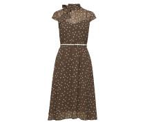 Dresses Light Woven Kleid Knielang Braun ESPRIT COLLECTION