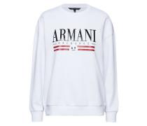 Woman Jersey Sweatshirt Langärmliger Pullover Weiß ARMANI EXCHANGE