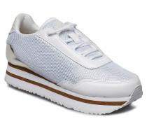 Ella Patent Mesh Niedrige Sneaker Weiß