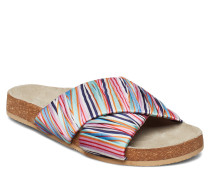 Sandy Stria Sandal Flache Sandalen Bunt/gemustert