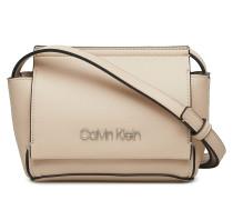 Stitch Flap Crossbod Bags Small Shoulder Bags/crossbody Bags Beige CALVIN KLEIN