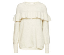 Finula Ruffle Pullover Knit Strickpullover Creme INWEAR