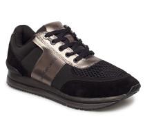 Estez Suede/Nylon/Metal Smooth Niedrige Sneaker Schwarz CALVIN KLEIN