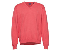 Lt. Weight Cotton V-Neck Strickpullover V-Ausschnitt Rot