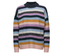 Maville Knit Loose Multi O-Neck
