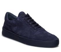 Low Mondo Ripple Suede Perforated Niedrige Sneaker Blau FILLING PIECES
