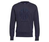 O1. Tonal Graphic C-Neck Sweat Langärmliger Pullover Blau GANT