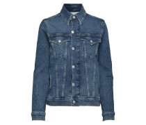 Foundation Trucker Jeansjacke Denimjacke Blau