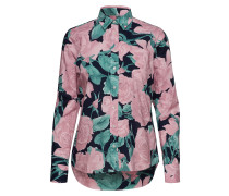 O1. Rose Voile Shirt Langärmliges Hemd Pink