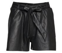 nia Leather Shorts Bermudashorts Schwarz
