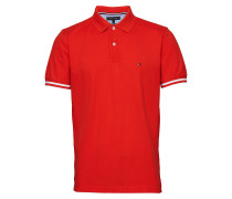 Basic Tipped Regular Polohemd Kurzarm-Shirt Rot TOMMY HILFIGER
