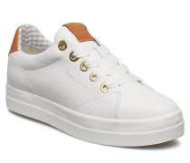 Aurora Low Schnürschuhe Niedrige Sneaker Weiß