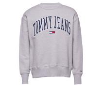 Tjm Clean Collegiate Langärmliger Pullover Grau TOMMY JEANS