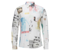 Pf18 May Travis All Over Printhemd W. Long Sleeves