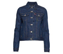 Original Trucker Clean Dark Au Jeansjacke Denimjacke Blau