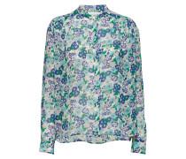 Elmy Shirt Aop 9695 Bluse Langärmlig Blau SAMSØE & SAMSØE