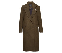 Double Breasted Long Wool Coat