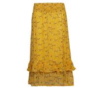 Dimitra Skirt Knielanges Kleid Gelb CREAM