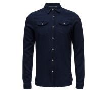 Ams Blauw Westernhemd Regular Fit