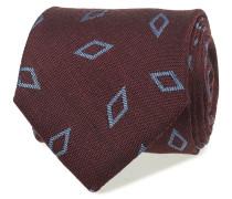 Burgundy Wool & Silk Tie