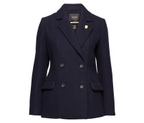 Classic Peacoat With Piping Details