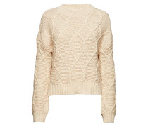Aria Cable Strickpullover Strickpullover Creme MAYLA STOCKHOLM