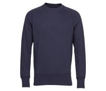 O1. Mobilize Rundhals Sweatshirt Langärmliger Pullover Blau