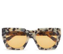 Double Layered Sunglasses Wayfarer Sonnenbrille Beige