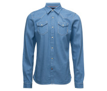 Ams Blauw Classic Westernhemd
