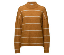 Brook Knit Loose Striped O-Neck