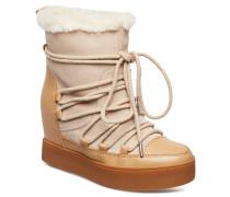 Trish Wool Boots Knöchelhohe Stiefel Beige