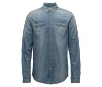 Ams Blauw Sawtooth Hemd
