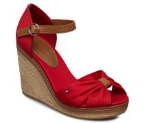 Elena 56d* Sandale Mit Absatz Espadrilles Rot